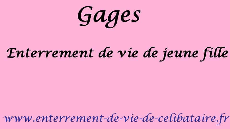 Gage #42 – Defi de petite ecoliere