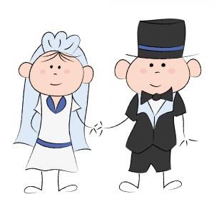 Soirée de fin de célibataire des futurs mariés en couple